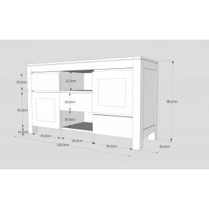 Komoda drewniana ENZO 05 (2D+ 3S) 2