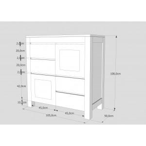 Komoda drewniana ENZO 06 (2D+ 4S) 2