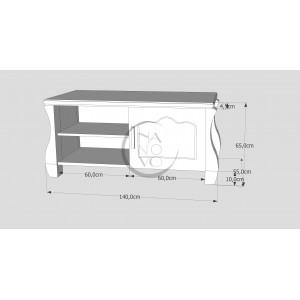 Komoda sosnowa LOVANO 11 (1D) 2