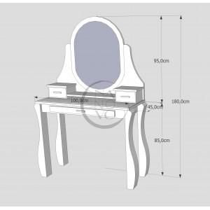 Toaletka sosnowa LOVANO 2