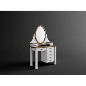 Toaletka sosnowa z lustrem Merida 1
