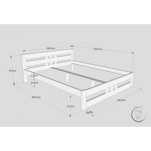 Łóżko sosnowe Classic Plus 2