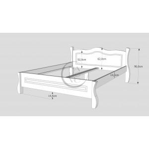 Łóżko LOVANO niskie, sosnowe 6