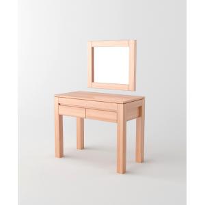 Toaletka z lustrem, drewniana ENZO
