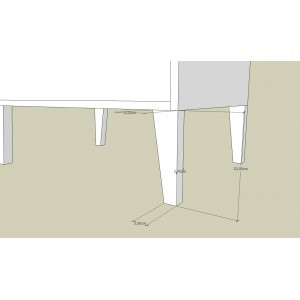 Łóżko sosnowe Retro 12