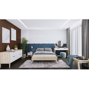 Łóżko sosnowe Retro 11
