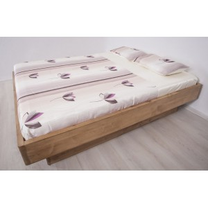 Łóżko bukowe z cofniętym pojemnikiem FORTE LITE 5