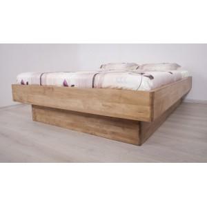 Łóżko bukowe z cofniętym pojemnikiem FORTE LITE 8