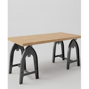 Stół drewniany na metalowych nogach Kobyłka