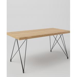 Stół drewniany na metalowych nogach Elegance