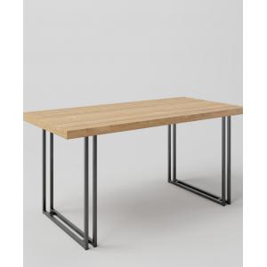 Stół drewniany na metalowych nogach KWADRO LOFT DUO