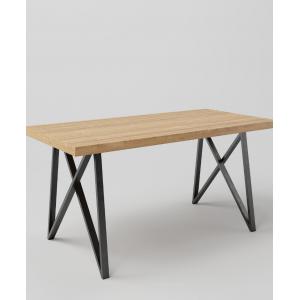 Stół drewniany na metalowych nogach VALOT