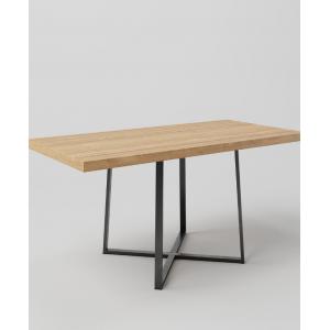 Stół drewniany na metalowych nogach QUERCUS