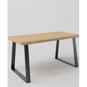 Stół drewniany na metalowych nogach TRAPEZ