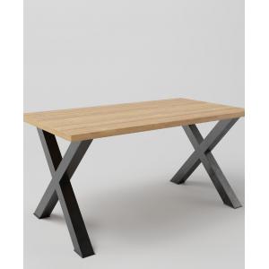 Stół drewniany na metalowych nogach KRZYŻAK