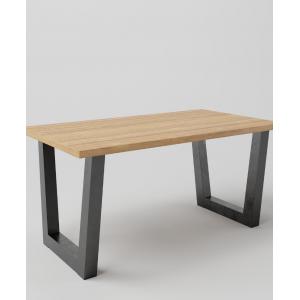 Stół drewniany na metalowych nogach TRAPEZ SZEROKI
