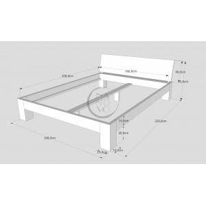 Łóżko drewniane LUNA 1