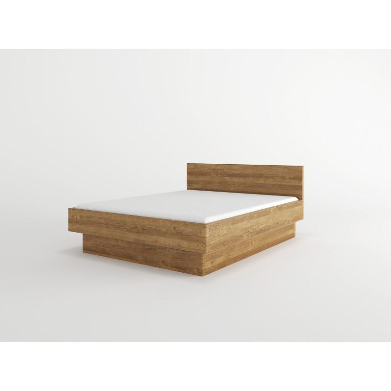 Łóżko bukowe z pojemnikiem FORTE