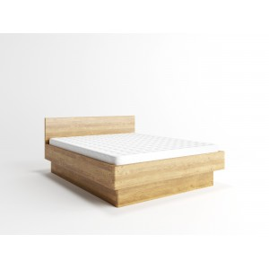 Łóżko bukowe z pojemnikiem i pochyłym wezgłowiem FORTE 4