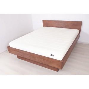 Łóżko bukowe z pojemnikiem i pochyłym wezgłowiem FORTE 7
