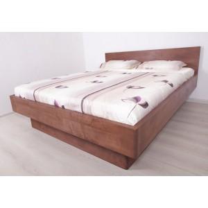Łóżko bukowe z pojemnikiem i pochyłym wezgłowiem FORTE 8