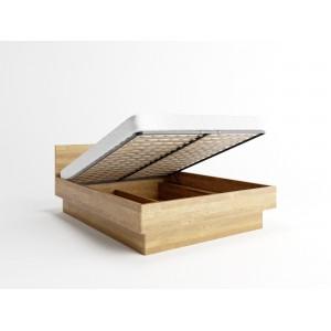 Łóżko dębowe z pojemnikiem FORTE 3