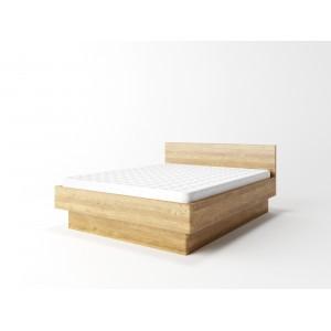 Łóżko dębowe z pojemnikiem FORTE