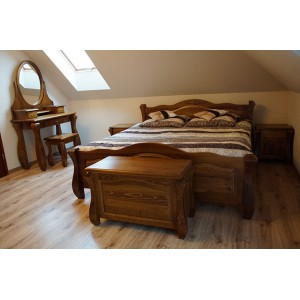Łóżko LOVANO niskie, sosnowe 12