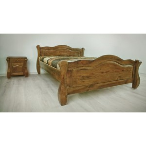 Łóżko LOVANO niskie, sosnowe 9