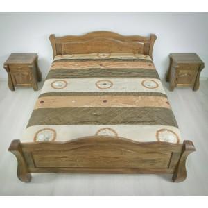 Łóżko LOVANO niskie, sosnowe 8